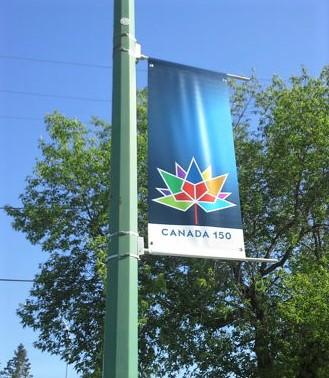 Canada 150 Streetlight Banner